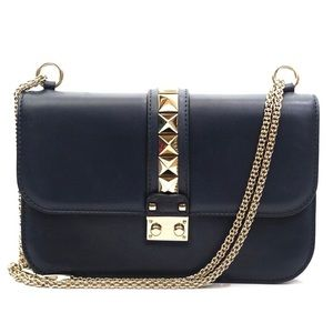 Valentino Glam Lock Rockstud Flap Chain Bag
